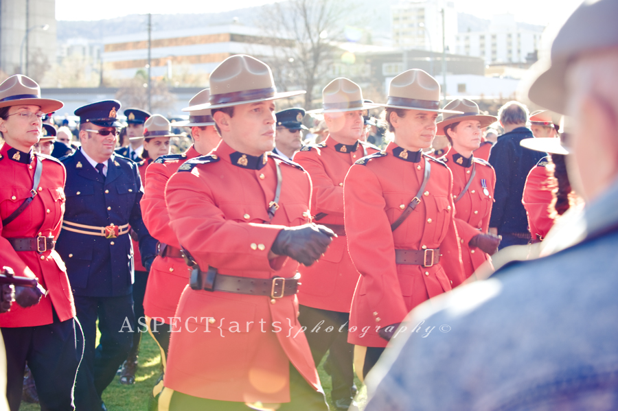 RCMP march in